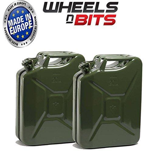 2-x-20l-litre-jerrican-vert-militaire-a-eau-essence-huile-de-carburant-diesel-kerosene-eau