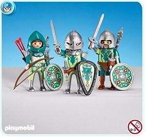 Amazon.com: Playmobil 3 Green Dragon Knights: Toys & Games