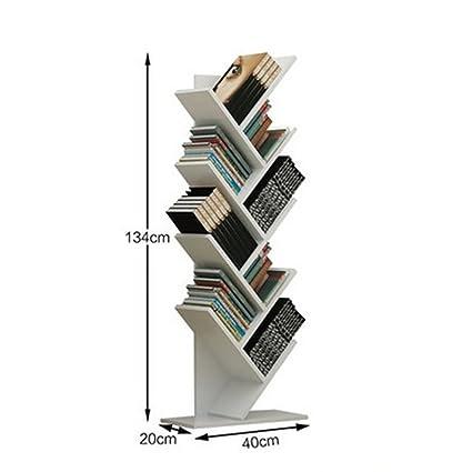 ZMSJ Estante de Escritorio Moderno Dormitorio Simple Estante de madera maciza Escritorio de estudiante Dormitorio Rack de almacenamiento creativo ( Color : 2* )