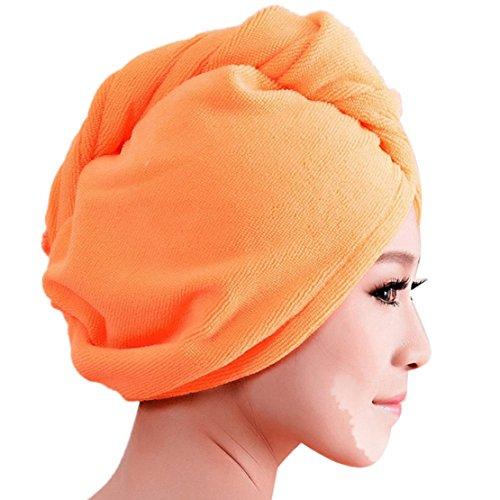 tonsee-mikrofaser-handtuch-trockenem-haar-hut-mutze-schnelltrocknend-dame-bad-werkzeug-orange