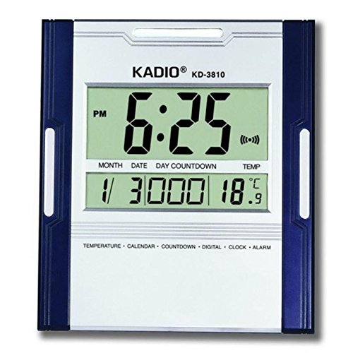 buy udee kadio digital jumbo wall mount u0026 table temperature display clock kd3810 online at low prices in india amazonin