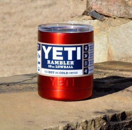 Yeti Lowball Rambler 10 oz. Custom Red Insulated Cup