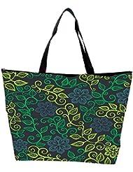 Snoogg A Seamless Leaf Pattern Waterproof Bag Made Of High Strength Nylon - B01I1KJF3I