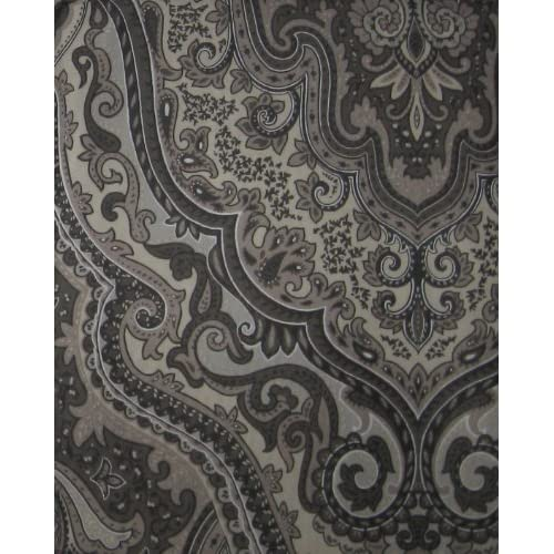 ... Charcoal Castleton Paisley Shower Curtain - Gray Paisley Curtains