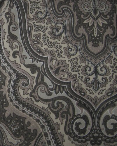 Croscill Charcoal Castleton Paisley Shower Curtain