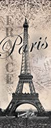 Eiffel Tower Global Vintage Travel Art Print Poster by Todd