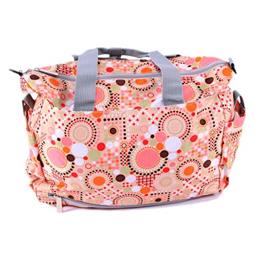 ilovebaby Polka Dot Deluxe Designer Diaper Tote Bag (Pink) - 1
