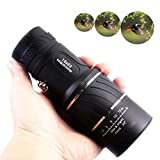MONOTELE Compact Day & Low-Light-Night Vision 16X52 Dual Focus Monocular Telescopes Optics Zoom Scalable Telescopic 66m/ 8000m for Birds/Hunting/Camping/Hiking Outdoor Travel