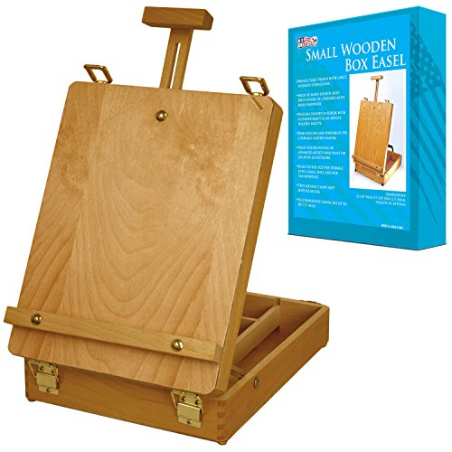 us-art-supply-newport-small-adjustable-wood-table-sketchbox-easel-desktop-artist-easel-wooden-portab
