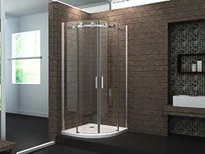 Duschkabine motion 90 x 90 viertelkreis ohne tasse dusche for Dusche ohne tasse