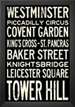 Big Sale Professionally Framed London Underground Vintage Stations Travel Poster - 13x19 with Solid Black Wood Frame
