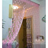 Mebelkart Dhamaka Set Of 2 Summer Heart Curtains - Light Pink