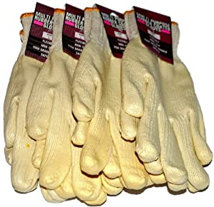 Rubber Coated Gloves Large, Multipurpose - (4 Pairs)