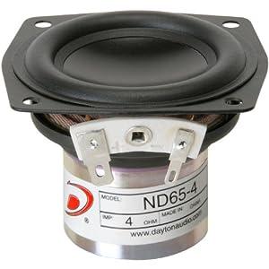 """Dayton Audio ND65-4 2-1/2"""" Aluminum Cone Full-Range Driver 4 Ohm"""