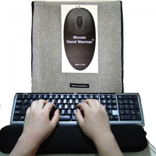 2 Pc Set ValueRays® USB Heated Keyboard Pad & Mouse Hand Warmer (non-USB), Infrared Heat Keyboard Pad, Hand Warmer with NO electricity, Eco Friendly Fleece Blanket, Warm Keyboard, Heated Keyboard