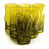 Bormioli Rocco Sorgente 15.5 Ounce Yellow Cooler Glass, Set of 6