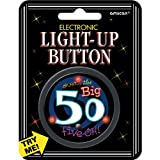 "AMSCAN Electronic Light-Up 2-1/2"" Button: Over The Hill 50"