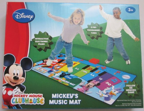 MAT DISNEY JUNIOR casa de Mickey Mouse Mickey DE MÚSICA