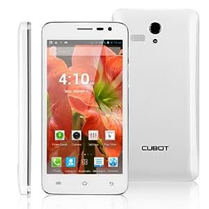 Smartphone Cubot® BOBBY 5,0 pouces écran tactile Google Android 4.2 Débloqué Dual Core CPU 1.3 GHz ROM 4Go Dual SIM 3G Wi-Fi Bluetooth - Blanc - resolution 960 x 540 - caméra arrière (5,0 mégapixels)- débloqué pour orange, SFR, Bouygues ISYS Lebara Virgin Ortel etc-Blanc