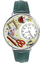 Scrapbook Red Leather And Silvertone Watch #WG-U0410008
