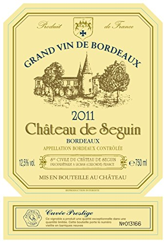 2011 Chateau De Seguin Cuvee Prestige Bordeaux White