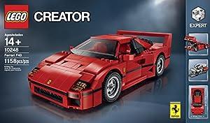Lego Creator Expert Ferrari F40 Kit 1158 Piece 10248 by LEGO