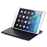 Lumsing® Ultrathin Backlit Keyboard Ipad Wireless Bluetooth Keyboard Bluetooth 3.0 Illuminated Keyboard Aluminum Alloy Cover with Stand for Ipad 2 Ipad 3 New Ipad Ipad 4 - 7with Built-in lithium battery 7 Color Options for Key Backlights (Backlit Bluetooth Black))