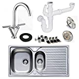 Astracast Stainless Steel Kitchen Sink 1.5 Bowl with Kitchen Mixer Tap | Includes FREE Pipework worth £19.99 - Best Reviews Guide