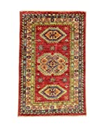 Eden Carpets Alfombra Kazak Super Rojo/Multicolor 91 x 59 cm