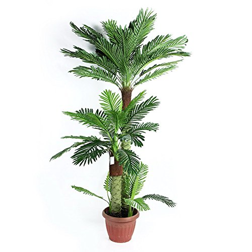 Artificial Palm Plant for Office House Decor 6.0-Feet Indoor Outdoor Silk Green Tree,With No Pot(577#)