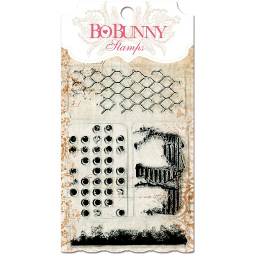 Bo Bunny - Essentials Collection - Clear Acrylic Stamp - Distressed Textures (Bo Bunny Press compare prices)