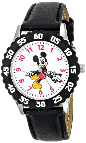Disney Kids' W000237 Mickey Mouse Stainless Steel Time Teacher Watch