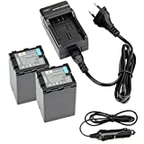 DSTE? 2pcs VW-VBN390 Wiederaufladbare Li-Ionen Batterie Akku + DC126E Reise Ladeger?t und Auto Ladeger?t f¨¹r Panasonic HDC-SD800GK, HDC-TM900, HDC-HS900, HDC-SD900