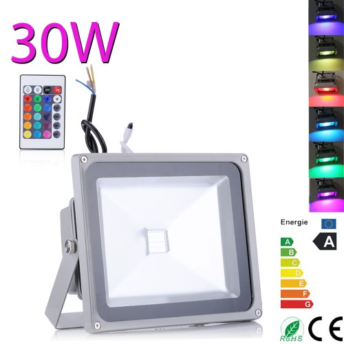 30W Rgb Led Floodlight Flood Light 16Colors Changing Waterproof Outdoor Spotlight Lighting With Remote Control Usa Seller