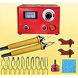 JIAN YA NA 110V 50W Wood Burning Tool Gourd Wood Crafts Tool Kit Multifunction Pyrography Machine (Color: RED)