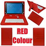 "MBW High Quality Keaboard 7"" Case Cover Red Colour For Bsnl Penta PS650 Tablet (WiFi+3G+4GB)"