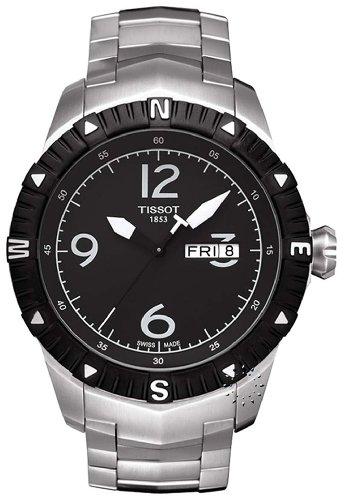 Tissot Men's T0624301105700 Quartz Stainless Steel Black Dial Watch