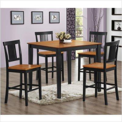 Home Loft Concept WLK1244 Beaumont 5-piece Wood Pub Table Set - Natural/Black