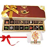 Nicely Best Combination Of Dark And Milk Chocolates With Birthday Card - Chocholik Belgium Chocolates