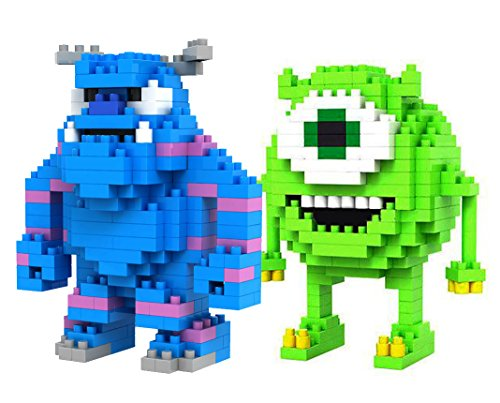 LOZ Diamond Blocks Monsters INC Mike Wazowski and Sulley 2 Pcs Set - 1