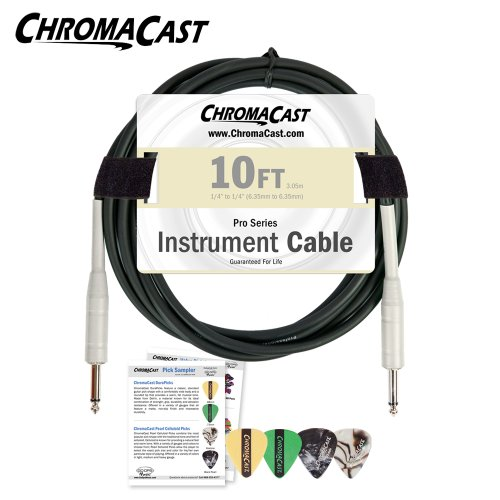 Chromacast Pro Series Cable Cc-Pscbl-10Vc 10 Feet Straight To Straight Instrument Cable With Pick Sampler