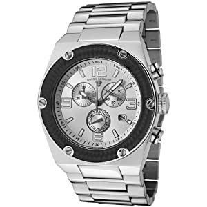 Swiss Legend Men's Quartz Watch with Silver Dial Chronograph Display and Silver Stainless Steel Bracelet SL-40025P-22S-BB
