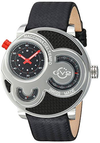 GV2-by-Gevril-Mens-8300-Macchina-Del-Tempo-Analog-Display-Swiss-Quartz-Black-Watch