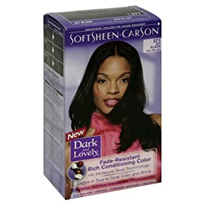 Amazon  Dark And Lovely Permanent Hair Color Jet Black  Chemical Hair D