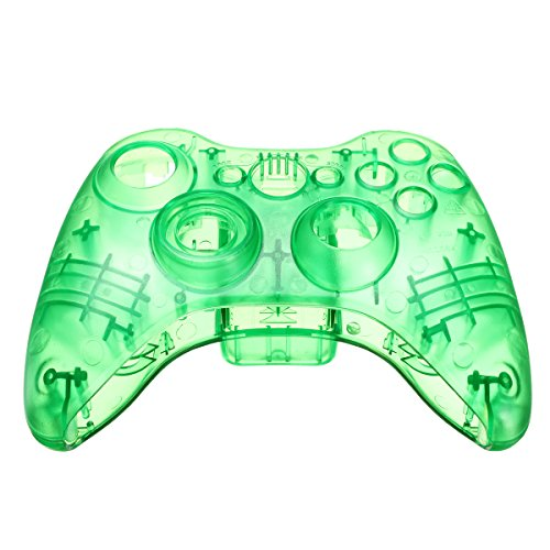 Xbox 360 Wireless Controller Shell Transparency Green