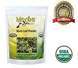Herbs India - Neem Leaf Powder 16 oz 1lb. 100% USDA Certified Organic.