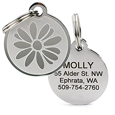 Playful, Custom Engraved Pet ID Tags. Solid Stainless Steel. Personalized Dog & Cat Pet Identification. Durable & Long Lasting Pet ID.