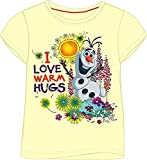 Girls Disney Frozen Olaf Summer 100% Cotton Tshirt Top (Yellow)[18-24 Months][Yellow]