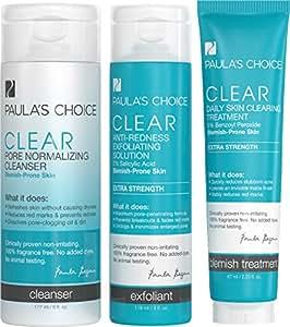 Paula's Choice Clear Extra Strength Acne Kit 2% Salicylic Acid & 5% Benzoyl Peroxide for Severe Acne