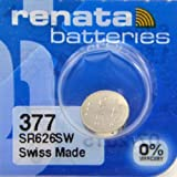 Renata Silver Oxide Watch Battery For Renata 377 Button Cell
